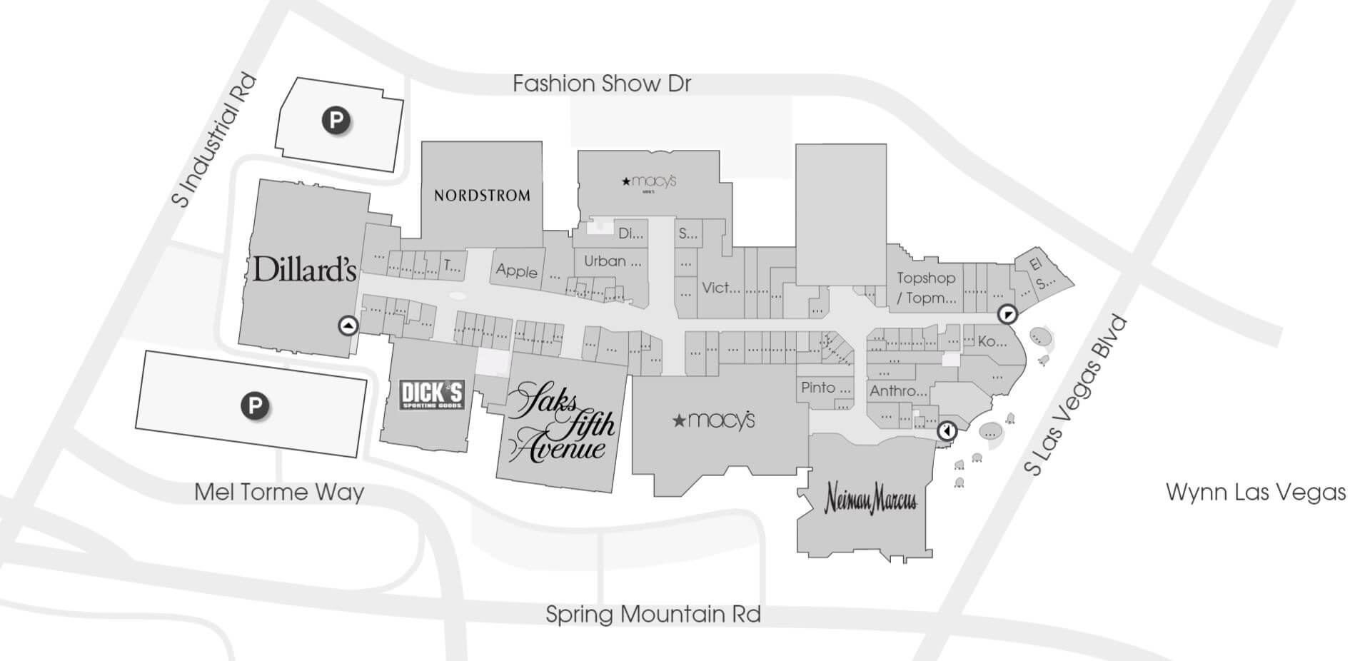 Fashion Show Mall Map Fashion Show Mall | VIP Dine 4Less Card
