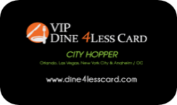 VIP Dine 4Less Card City Hopper