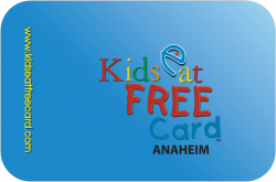 Kids Eat Free Card Anaheim / Orange County